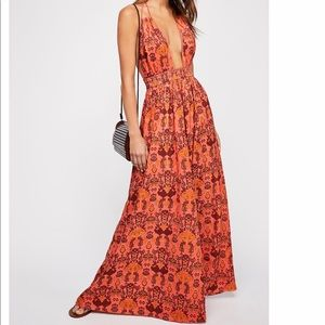 Free people Look Into the Sun Printed Maxi Dress